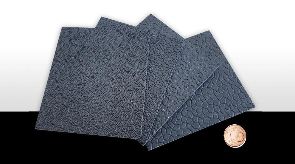 Oberflächenstrukturen von Platten aus expandiertem Polypropylen   EPP-Forum Bayreuth