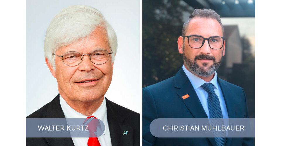 Vorstandsmitglied Dipl.-Ing. Walter Kurtz und Vorsitzender des Vorstands Christian Mühlbauer | EPP-Forum Bayreuth